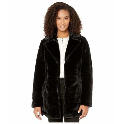 トリバル コート アウター レディース Long Sleeve Notch Collar Coat Black