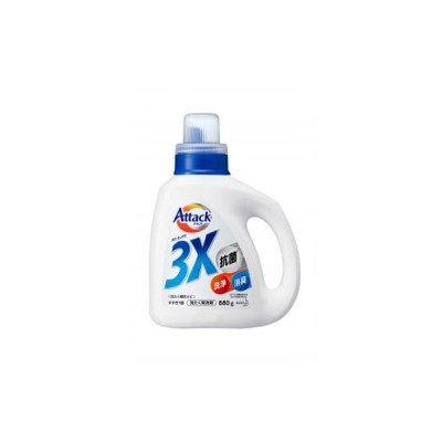 アタック 3X 洗濯洗剤  本体 880g