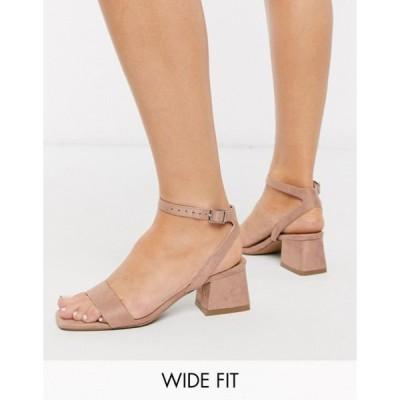 エイソス レディース サンダル シューズ ASOS DESIGN Hocco block heeled sandals in warm pink