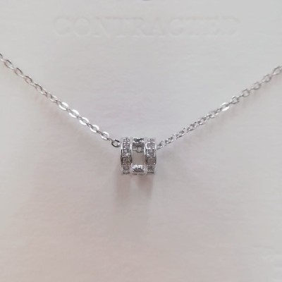 Princess(プリンセス)320001、可愛いジルコニアネックレス、シミュレーションダイヤモンドネックレスメーカー刻印あり卸売見本貴重感