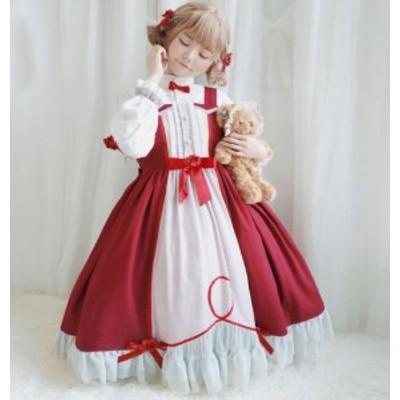 ロリータ衣装 ワンピース lolita/ドレス/レディース二次元衣装 美少女ドレス キャミソールド シャツ 可愛い /ダンス衣装 普段着