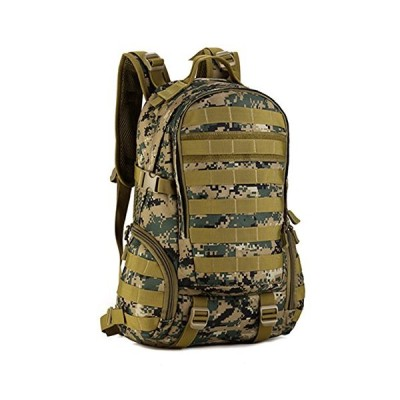 Cinmaul Tactical Daypack Military Backpack Gear MOLLE Student School Sport Bag Assault Pack Rucksack for Camping Trekking Travel Jungle Camouflage 並