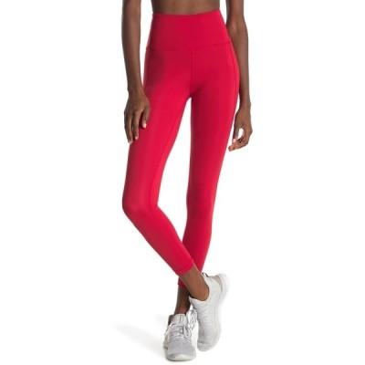 90ディグリー レディース カジュアルパンツ ボトムス Lux High Rise Cropped Leggings SCORPIO RED