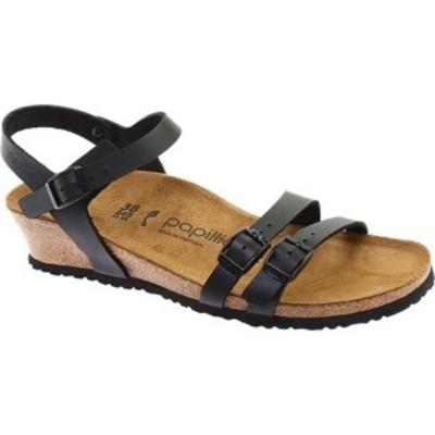 ビルケンシュトック レディース サンダル シューズ Papillio Lana Leather Strappy Sandal Black Leather