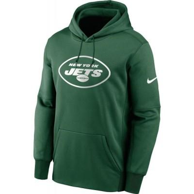 ナイキ Nike メンズ パーカー トップス New York Jets Sideline Therma-FIT Green Pullover Hoodie