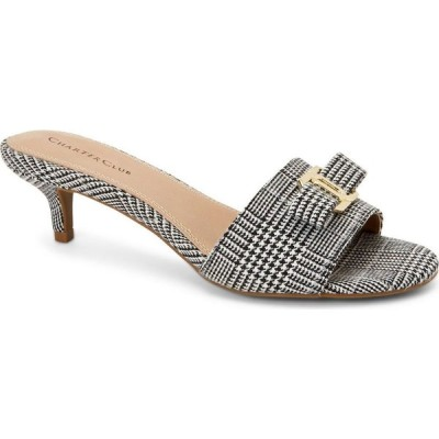 チャータークラブ Charter Club レディース サンダル・ミュール シューズ・靴 Tessaa Dress Slide Sandals Black & White