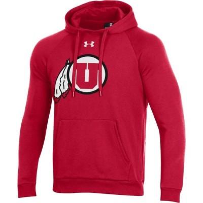 アンダーアーマー Under Armour メンズ パーカー トップス Utah Utes Crimson All Day Hoodie