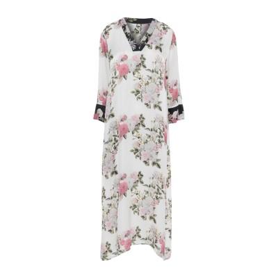 ピンク メモリーズ PINK MEMORIES ロングワンピース&ドレス ホワイト 42 レーヨン 65% / シルク 35% ロングワンピース&ド