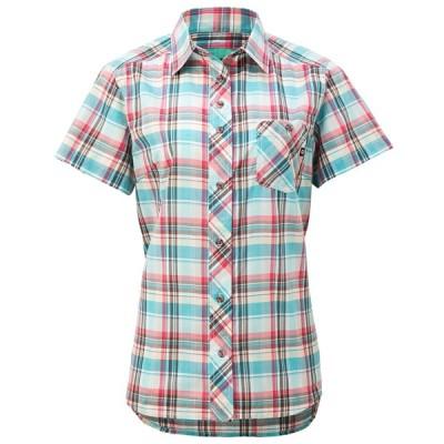 マーモット レディースファッション カジュアルシャツ 半袖 ウィメンズ QD Check H/S Shirt レイク LAK MA-TOWNJA76-LAK
