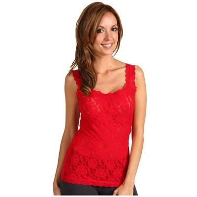 ハンキーパンキー シャツ レディース Signature Lace Unlined Cami Red