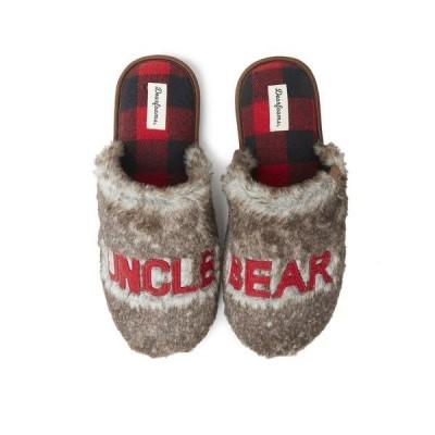 ディアフォームズ サンダル シューズ メンズ Men's Furry Uncle or Big Bro Bear Scuff Matching Family Slippers Brown Frost