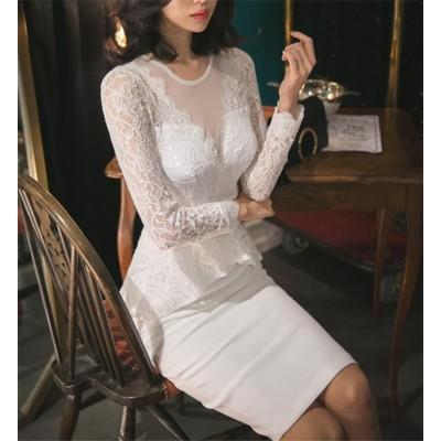 [55555SHOP]  ♫限定発売♫★新製品の入荷★韓国ファッションOL Vネック  ワンビース  女性美up↑ お洒落なオフィススタイル提案 細身 普段着 通勤