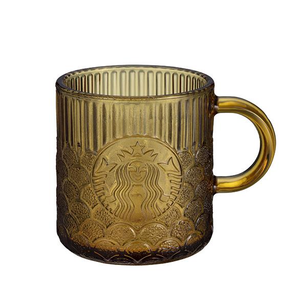 星巴克Demi琥珀女神鱗片玻璃杯
