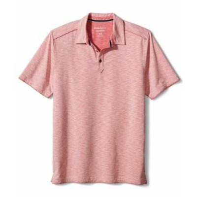 トッミーバハマ メンズ シャツ トップス Fray Day Harbor Short-Sleeve Polo Shirt New Red Sail