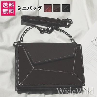 ショルダーバッグ カバン 鞄 ミニショルダーバッグ ベルト シンプル チェーン 無地 収納  お財布 小さめ 可愛い