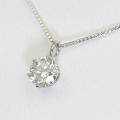 PT ダイヤモンド ネックレス 一粒 シンプル プラチナ 0.2ct