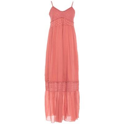 PAOLO CASALINI ロングワンピース&ドレス パステルピンク S コットン 100% ロングワンピース&ドレス