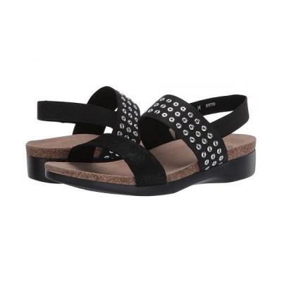 Munro ムンロ レディース 女性用 シューズ 靴 サンダル Pisces - Black Suede Grommet Fabric Combo
