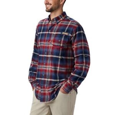 コロンビア メンズ シャツ トップス Columbia Men's Sharptail Flannel Shirt Beet Multi Plaid