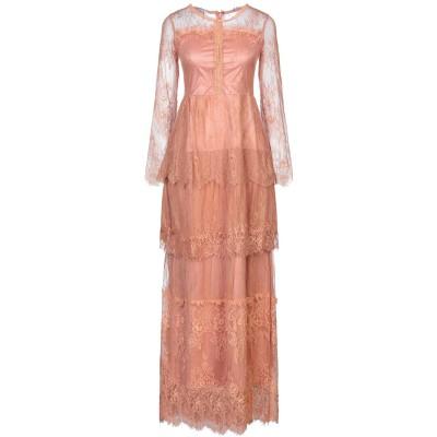SOALLURE ロングワンピース&ドレス ローズピンク 38 ナイロン 100% ロングワンピース&ドレス