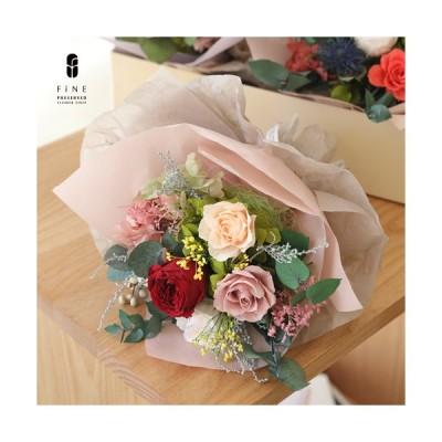 プリザーブドフラワー ココットブーケ ブーケ ローズ バラの花束 女性 記念日 プレゼント 誕生日 お祝い 結婚祝い 新築祝い 開店祝い 開業祝い 送料無料