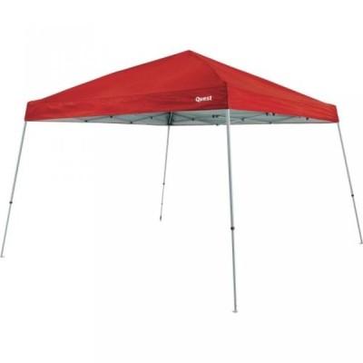 テント Quest 10 Ft. X 10 Ft. Slant Leg Instant Ez up Pop up Recreational Tent Canopy (Crimson)
