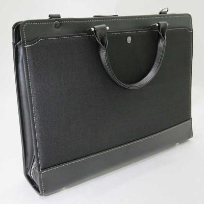 【日本製 国産】 木和田 Kiwada ビジネスバッグ ブリーフケース ショルダーバッグ シングル A4 2本手 日本製 ブラック 5017-01