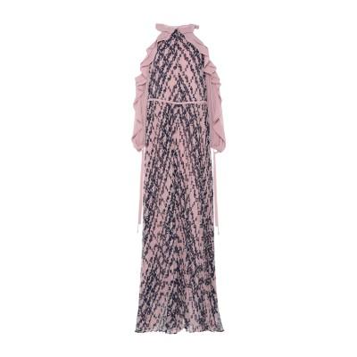 SELF-PORTRAIT ロングワンピース&ドレス ピンク S ポリエステル 100% ロングワンピース&ドレス