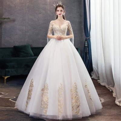 【送料無料】格安 ウエディングドレス ロングドレスウェディングドレス ドレス 二次会 花嫁 イブニングドレス結婚式イベント 演奏会 フォーマル ドレス