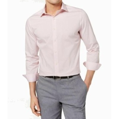 care ケア ファッション ドレス Bar III Pink Mens Shirt Size XL (17- 17 1/2) Easy Care Slim Dress