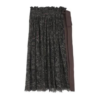 UMA WANG 7分丈スカート 鉛色 S コットン 50% / レーヨン 41% / ポリウレタン 9% 7分丈スカート