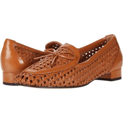ジェイクルー J.Crew レディース ローファー・オックスフォード シューズ・靴 Woven Leather Avenue Loafer w/ Bow Roasted Pecan