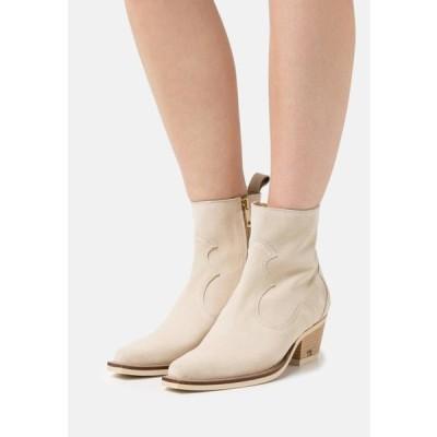 スコッチ&ソーダ レディース 靴 シューズ CORALL BOOT - Cowboy/biker ankle boot - weiB