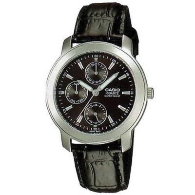 腕時計 カシオ Casio メンズ MTP-1192E-1A 'クラシック' クロノグラフ ブラック レザー 腕時計