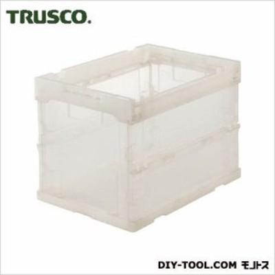 トラスコ(TRUSCO) スケルコン折りたたみコンテナ20L透明 TM 364 x 262 x 76 mm TRS20 1個