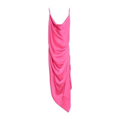 NINEMINUTES ロングワンピース&ドレス フューシャ 42 ポリエーテル 97% / ポリウレタン 3% ロングワンピース&ドレス