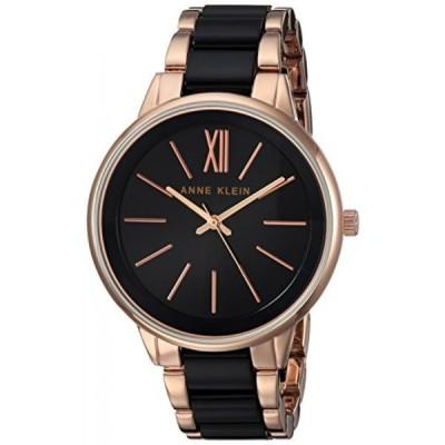 アンクライン 腕時計 レディースウォッチ Anne Klein Women's Quartz Metal and Alloy Dress Watch, Color:Black (Model: AK/1412BKRG)