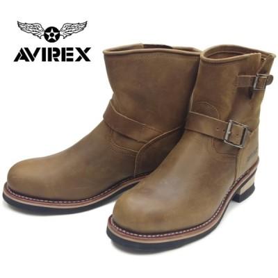 アビレックス ブーツ AVIREX HORNET AV2225 ホーネット CRAZY HORSE メンズ レディース ショートエンジニアブーツ バイカーブーツ ミリタリーブーツ 革靴