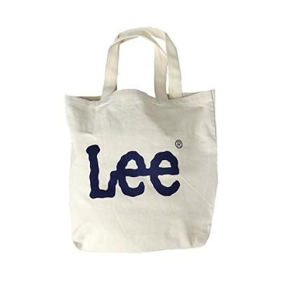 Lee トートバッグ リー トート バッグ BIGロゴ 0425349 ロゴプリント カバン (ワンサイズ ホワイト/ネイビー)