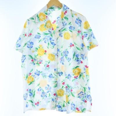 半袖 オープンカラー ポリシャツ レディースL /eaa035680