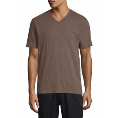 ヴィンス メンズ トップス Tシャツ ポロシャツ Marled V-Neck T-Shirt