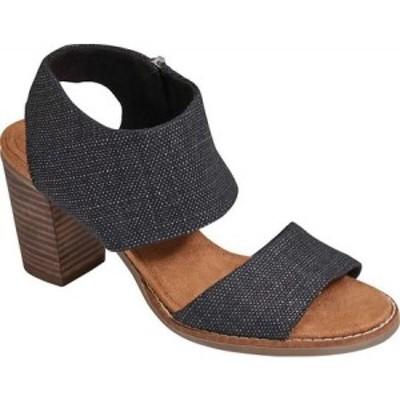 トムス TOMS レディース サンダル・ミュール シューズ・靴 Majorca Cut-Out Sandal Black Foil Textile