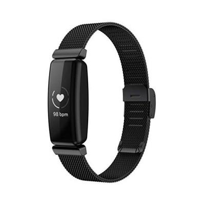 Comtax for Fitbit Inspire2 ベルト 交換用バンド スマートウォッチ 高級ステンレス鋼 ストラップ 調整可能 ビジネス ?