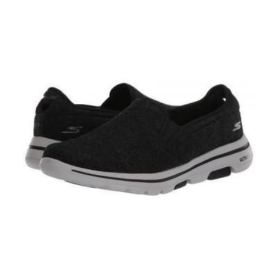 SKECHERS Performance スケッチャーズ メンズ 男性用 シューズ 靴 スニーカー 運動靴 Go Walk 5 - Wash-A-Wool - Flint - Black/White