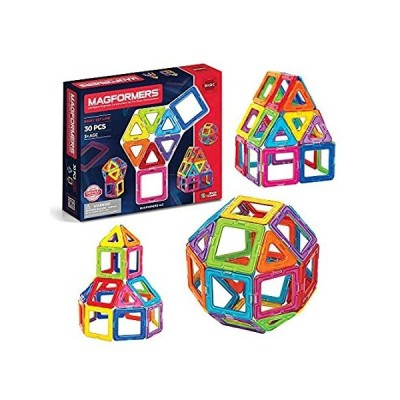 Magformers Basic Set (30 pieces) magnetic building blocks, educational magn