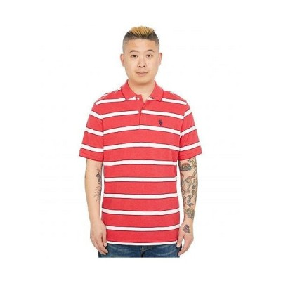 U.S. POLO ASSN. USポロ メンズ 男性用 ファッション ポロシャツ Striped Pique Polo - Nantucket Red Heather
