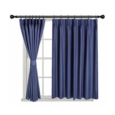 QKYカーテン1級、遮光ネイビーカーテン、リビングルーム・ベッドルーム用、幅100cm、長さ80cmの2枚一組です。