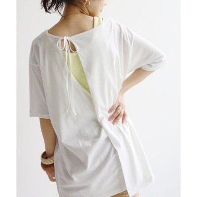 tシャツ Tシャツ SLOBE citron. バックデザインTEE【手洗い可能】◆