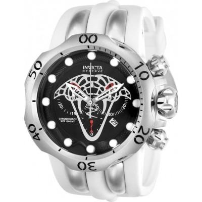 腕時計 インヴィクタ 24065 Invicta Reserve Venom Viper Swiss Quartz Chrono Polyurethane Strap Watch