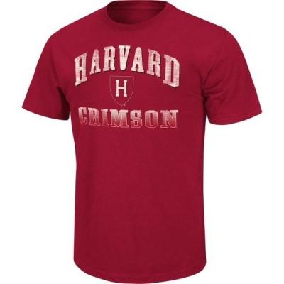 ユニセックス スポーツリーグ アメリカ大学スポーツ Harvard Crimson Adult Contour Short Sleeve T-Shirt - Maroon Tシャツ